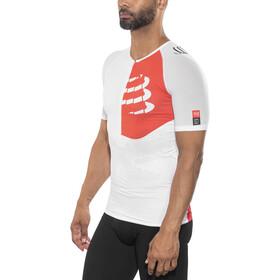 Compressport Triathlon Postural Aero Shortsleeve Top Men white